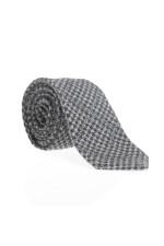 Krawatte in Blau/Grau gemustert