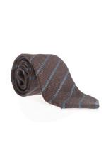 Krawatte in Braun/Blau gestreift
