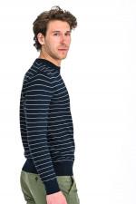 Gestreifter Pullover in Navy/Weiß