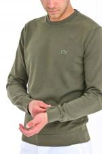 Pullover mit Rundhals in Khaki