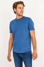 T-Shirt aus Schurwolle in Blau