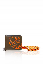 Geldbörse mit Kordel in Khaki/Orange