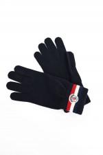 Handschuhe mit Logo-Patch in Navy