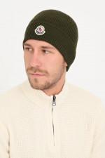 Mütze aus Schurwolle in Khaki