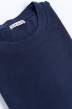 Jersey T-Shirt mit Schriftzug in Navy