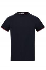 Jersey T-Shirt MAGLIA mit Kontrastbund in Navy