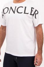T-Shirt MAGLIA mit Moncler-Schriftzug in Weiß