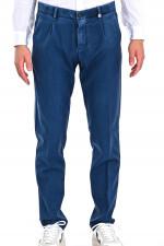 Hose aus leichter Schurwolle in Denimblau