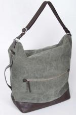 Reisetasche in Oliv/Braun
