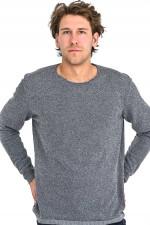 Bouclé Pullover in Grau