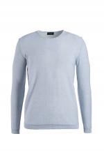 Sweater aus Baumwolle in Silber