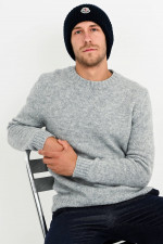 Woll-Mix Pullover in Hellgrau meliert