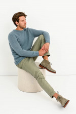 Woll-Mix Pullover in Eis Blau