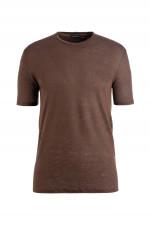 T-Shirt aus Leinen in Coffee