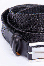 Geflochtener Ledergürtel in Schwarz