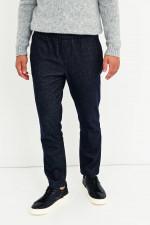 Hose in Jeans-Optik in Dunkelblau