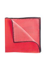 Stecktuch in Rot/Weiß gepunktet