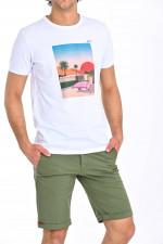 T-Shirt mit Print in Weiß
