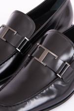Leder-Loafer in Schwarz