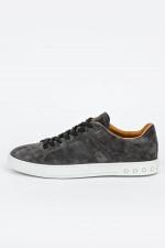 Rauleder Sneakers in Grau