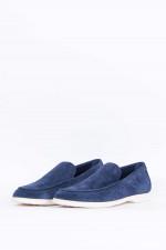 Loafer mit Kontrastsohle in Navy