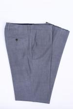 Bügelfreie Anzughose in Grau meliert