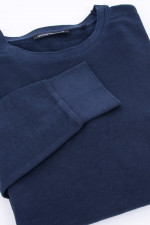 Baumwoll-Sweater in Navy