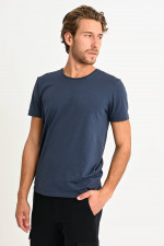 T-Shirt in Schieferblau