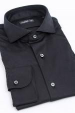 Jerseyhemd in Schwarz