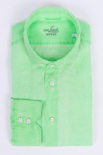 Leinenhemd in Neongrün