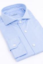 Hemd mit klassischem Kragen in Blau meliert