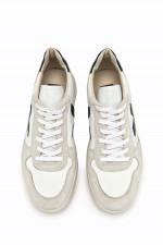 Nachhaltiger Sneaker V-10 in Weiß/Beige/Navy