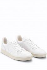 Glattleder-Sneaker V-10 in Weiß