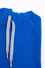 Sweater mit Kapuze in Royal Blau