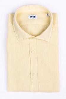 Leinenhemd in Gelb