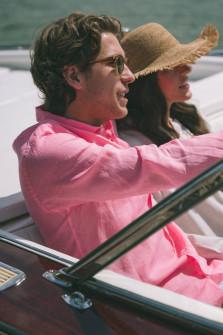 Leinenhemd in Pink