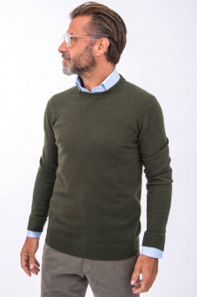 Cashmere Pullover in Oliv