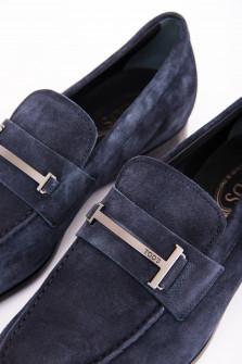 Loafer aus hochwertigem Verloursleder in Midnight