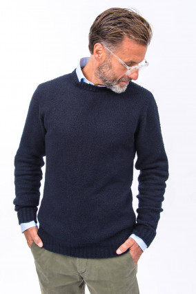 Bouclee Pullover in Navy