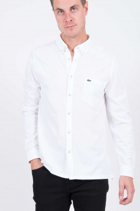 Jersey-Hemd in Weiß