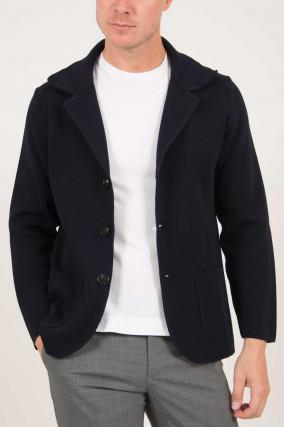 Sakko aus Wolle in Navy