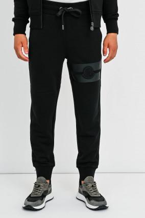 Jogginghose mit Logo-Patch in Schwarz