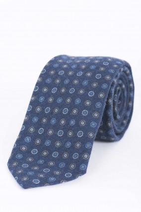 Krawatte in Dunkelblau gemustert
