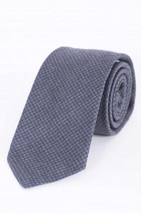 Krawatte in Blau/Braun gemustert