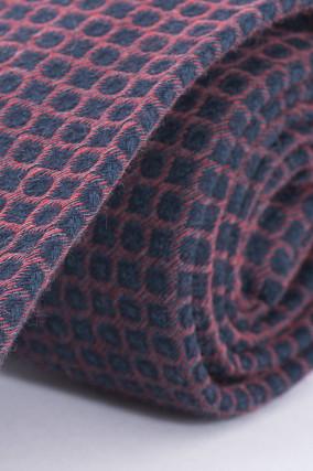 Krawatte in Blau/Rot gemustert