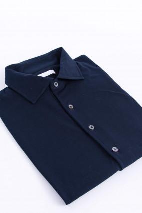 Zeitloses Poloshirt in Navy