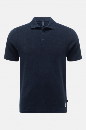Frottee Polo in Navy