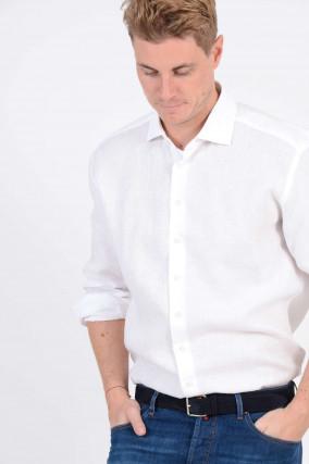 Leinenhemd in Weiß