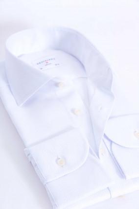 Baumwollhemd mit Struktur in Weiß