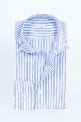 Gestreiftes Hemd in Blau/Weiß
